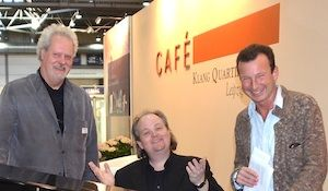 Leipziger Buchmesse 2013: Kristian Ehlers (AudioPool, Berlin), Stephan Winkelhake und Frank Suchland